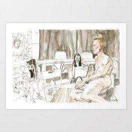Figure Drawing, 97 Art Print