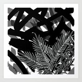 Black Bamboo Palm Art Print
