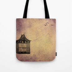 birds and freedom concept Tote Bag
