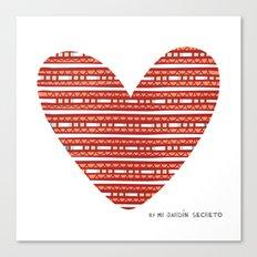 CORAZON (rojo) Canvas Print