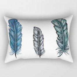 Three Feathers Rectangular Pillow
