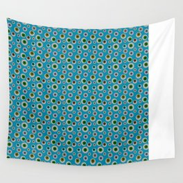 I Only Have Eyes for You (on Cyan Blue Background)  Wall Tapestry