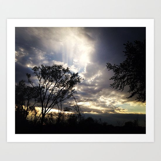 Peaceful and powerful sunset Art Print