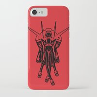 gundam iPhone & iPod Cases featuring Gundam Black by deeviousgenius