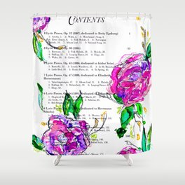 Book contents - Floral painting Shower Curtain