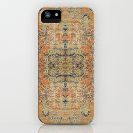 Vintage Woven Coral and Blue iPhone Case