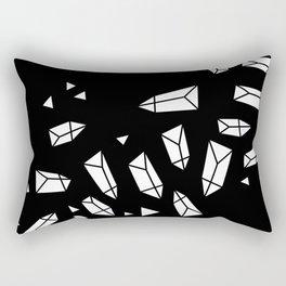 White Crystals on Black/Transparent Rectangular Pillow