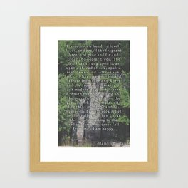 Happy in Nature. Framed Art Print