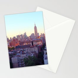 Empire State Building and the New York Skyline Stationery Cards