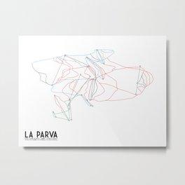 La Parva - La Parva, Chile - Minimalist Winter Trail Art Metal Print