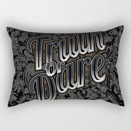 Truth Or Dare Rectangular Pillow