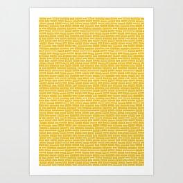 Brick Road - Yellow and white Art Print