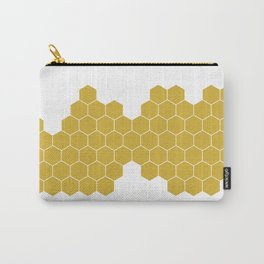 Honeycomb White Carry-All Pouch