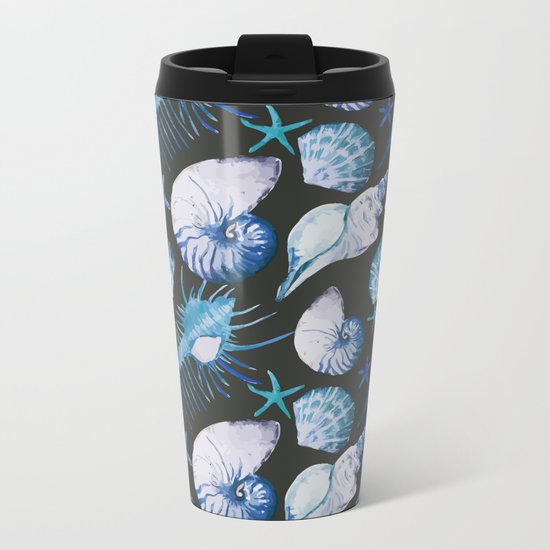 Sea Life Pattern 06 Metal Travel Mug