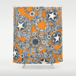 cirque fleur papaya Shower Curtain