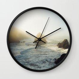 Morning at Arch Rock Wall Clock