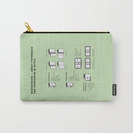 Bookbinding – About Paperback and Hardcover in Detail (in English) Carry-All Pouch