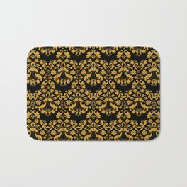 Golden ornament in baroque style Bath Mat