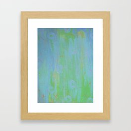 Teal, Orange and Blue  by Sharon Crumley Framed Art Print