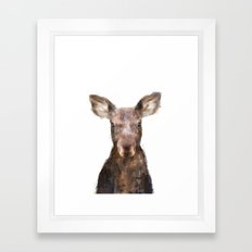 Little Moose Framed Art Print