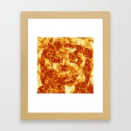 FIRE LOGO Framed Art Print