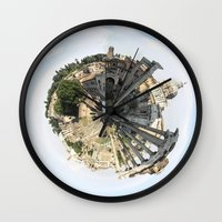 rome Wall Clocks featuring ROME by fscVisuals