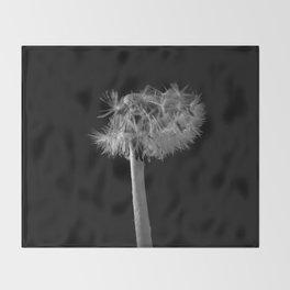 Monochromatic dandelion Throw Blanket