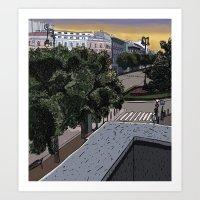 Andrássy street Art Print
