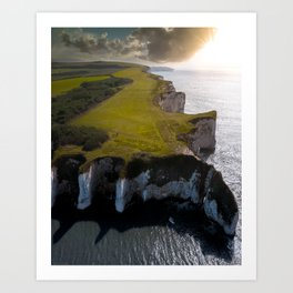 Coast of England Art Print
