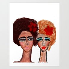 Two Girls Art Print