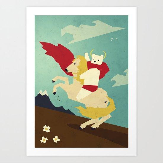 Forward! Art Print