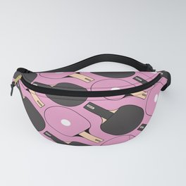 Ping Pong / Table Tennis Pattern (Pink) Fanny Pack