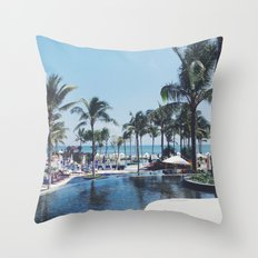 Paradise in Bali Throw Pillow
