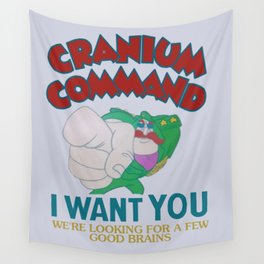 Cranium Command Recruitment Sign Wall Tapestry