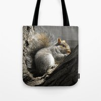 squirrel Tote Bags featuring Squirrel by Mandy Becker