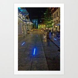 Walkway of Lights Art Print