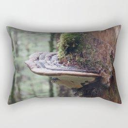 Magical Fungi World   Nature Photography Rectangular Pillow