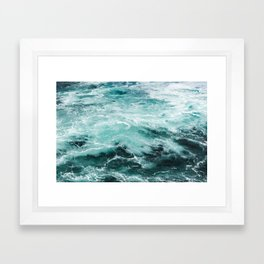 Water Photography   Sea   Ocean   Pattern   Abstract   Digital   Turquoise Framed Art Print