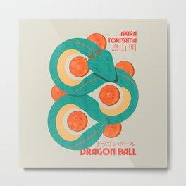 Dragon ball, Toriyama manga, japanese illustration, cult anime, manga poster Metal Print