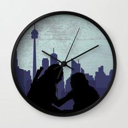 The City of Light Wall Clock