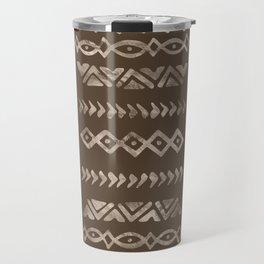 Bold Folk pattern pastel gold n.5 Travel Mug