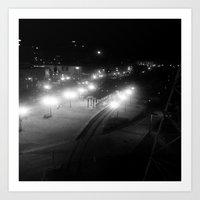 Nashville Night - Train Station  Art Print