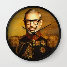 Jeff Goldblum Poster, Classical Painting, Regal art, General, Jurassic Park, Actor Print, Celebrity Wall Clock
