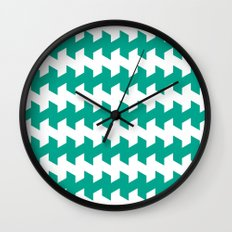 jaggered and staggered in emerald Wall Clock