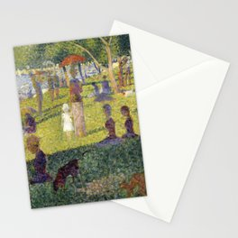 "Georges Seurat ""A Sunday on La Grande Jatte (study)"" (1884-85) Stationery Cards"