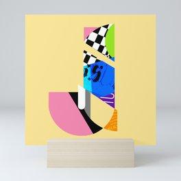 J Mini Art Print