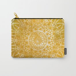 Fire Blossom - Yellow Carry-All Pouch