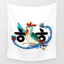 Initial Minhwa: ㅎㅎ (Korean traditional/folk art) Wall Tapestry