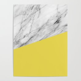 Marble with Meadowlark Yellow Color Poster