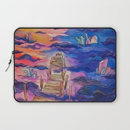 Space Clouds Crystals Laptop Sleeve